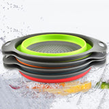 1 Pcs Portable Drain Basket Plastic Folding Filter Fruit Basket For RetracTable Kitchen Sink Washing Basket
