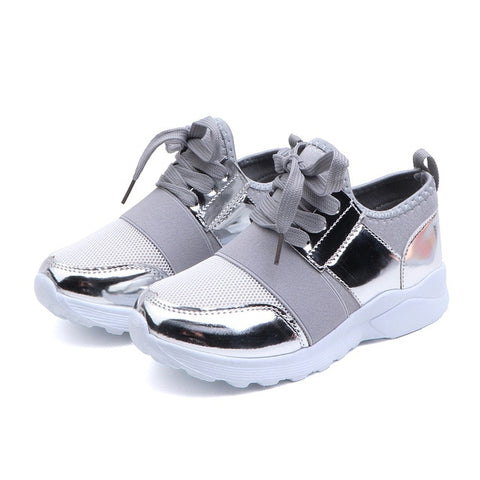 Kids Shoes Children Sneakers Girls Sport Shoes Fashion Sneakers Anti Slip Pink Cross-tied Kid Sneakers Casual Flat Shoes  D30
