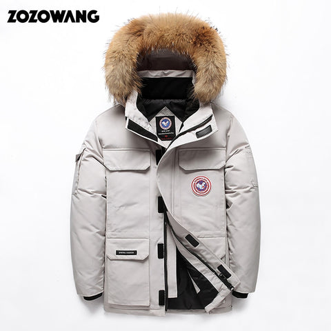 High Quality -40Celsius Down Jacket Keep Warm Men's Winter Thick Snow Parka Overcoat Camouflage White Black Duck 2019New Fashion