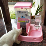 Detachable Automatic Pet Feeder Cat Dog Drinking Bowl Food Dispenser Bottle Feeding Tool