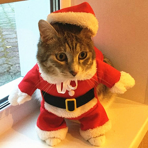 Christmas Cat Clothes Halloween Clothes For Cats New Year Puppy Outfit Pet Cat Clothes For Chihuahua Winter Warm Pet Clothes