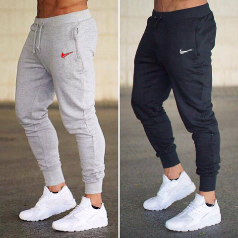 2019 New Men Joggers Brand Male Trousers Casual Pants Sweatpants Men Gym Muscle Cotton Fitness Workout hip hop Elastic Pants