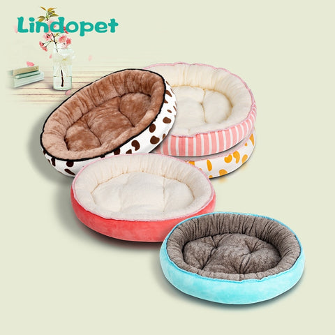 Dog Bed Warming Kennel Washable Pet Floppy Extra Comfy Plush Rim Cushion and Nonslip Bottom All Size Dog House