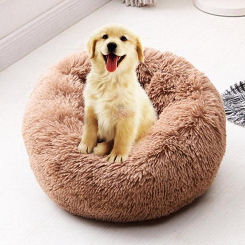 Foldable Round Cat Warm Sleeping Bed Portable Soft Plush Pet Kennel Nest Multi-Colors Pet Nest Pet Products