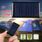 5V Solar Panel Portable Mini DIY Module Panel System For Battery Cell Phone Chargers Solar Cells power bank for outdoor travling