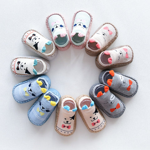 0-1-3 Years Old Spring Autumn Winter Infant Funny Socks Baby Socks Non-slip Floor Socks Leather Sole Cartoon Cotton Baby Socks