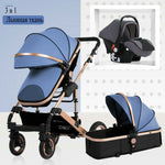 2019 new baby trolley high landscape 3 to 1 baby stroller double faced children free shipping in four seasons in Russia