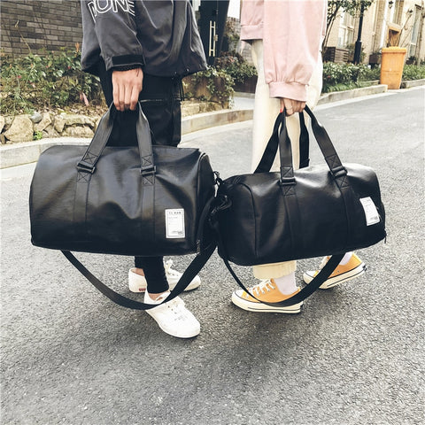 Women Men Unisex Travel Bag Handbag Beach Shoulder Bag Crossbody Bag PU Large Capacity Fashion Couples Duffel Package HOT SALE