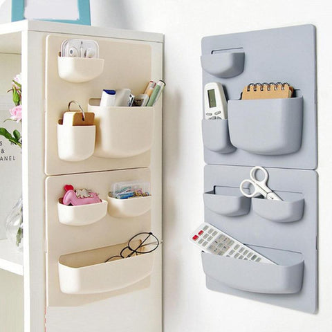 Plastic Self-adhesive Kitchen Refrigerator Fridge Storage Rack Organizer Cleaning Sponge Vegetable Fruit Kitchen Tools