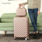 Cartoon Plaid fashion cute female 20/22/24/26/28 inch Rolling Luggage Spinner Brand Suitcase Wheels Carry On Travel Bags