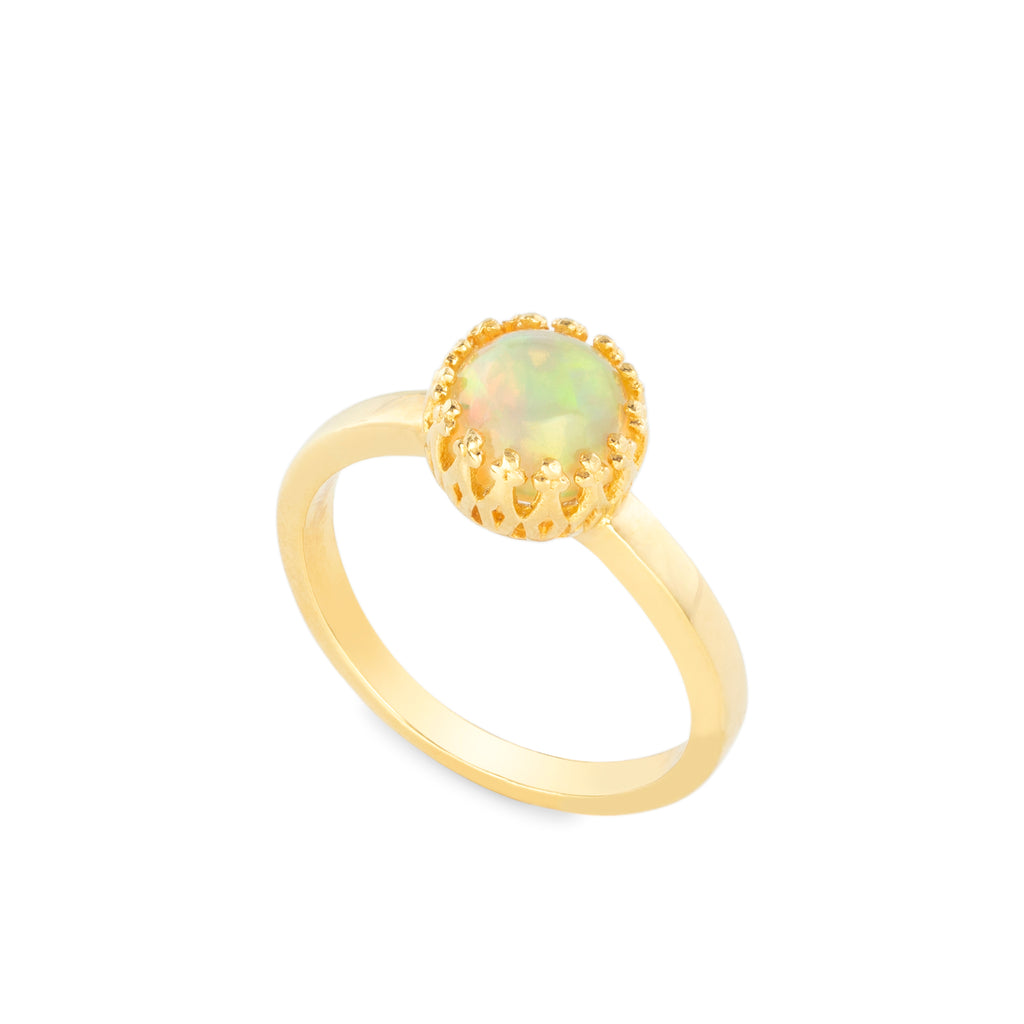 REFLECTIONS. OPAL DOME RING