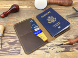 Handmade Leather Passport Wallet