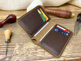 Vertical Leather Bifold Wallet