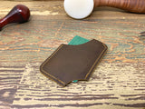 Brown Minimalist Card Wallet