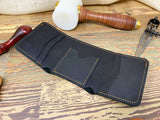 Mens Black Trifold Wallet