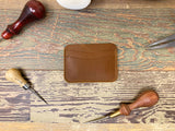 Brown ID Leather Card Wallet