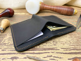 Black Bifold Leather Wallet
