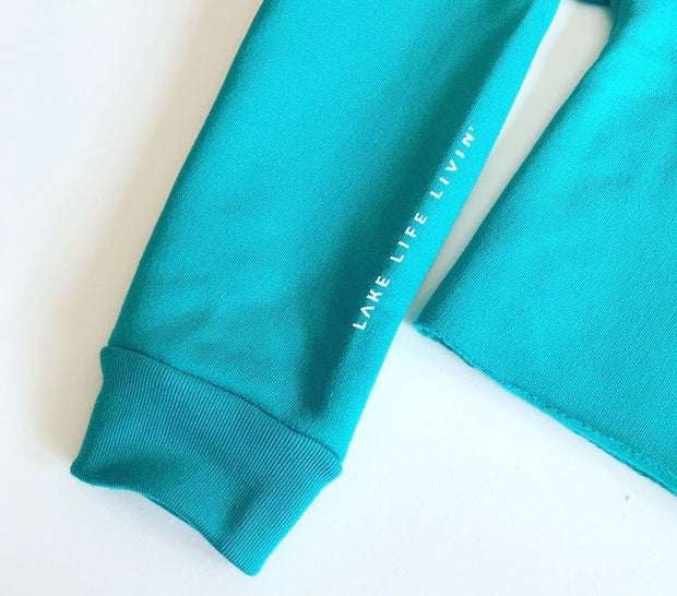 Crop Crewneck - Teal