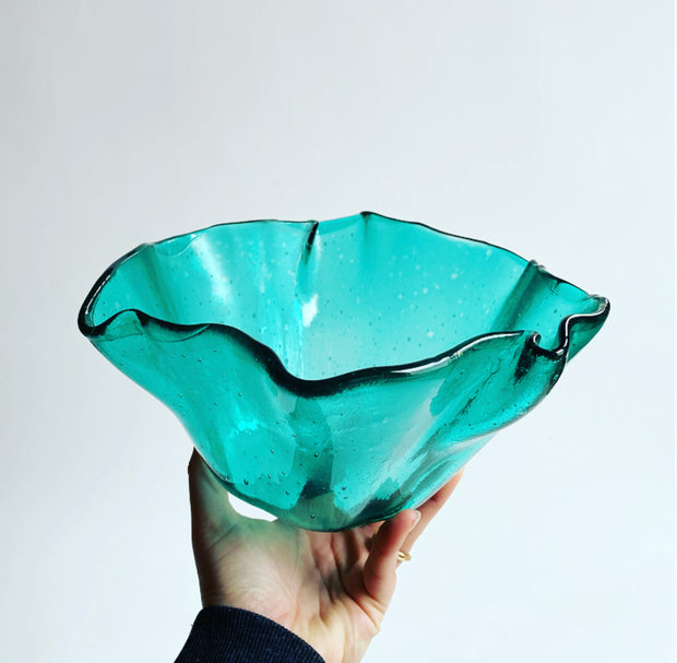 Large Glass Shell Bowl