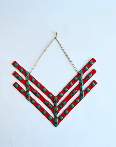 Glass Chevron Wall Hanger