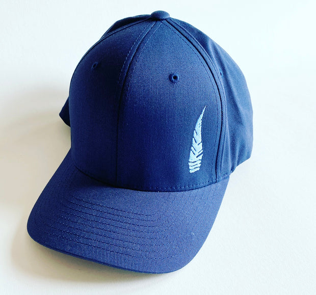 Fitted Six Panel  Blue Hat