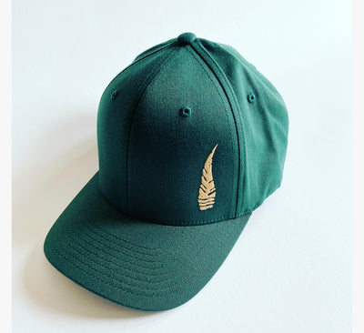 Fitted Six Panel Hunter Green Hat
