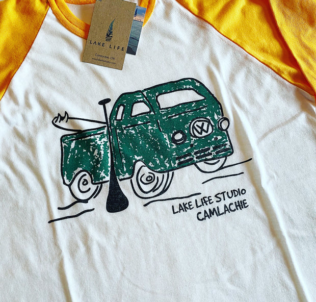 Men's VW Bus Baseball T-Shirt