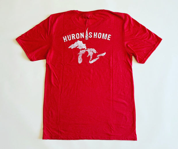Huron is Home T-Shirt - Retro Red