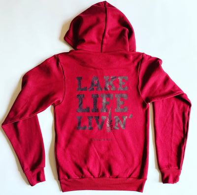 Lake Life Livin' Cranberry Camlachie Hoodie