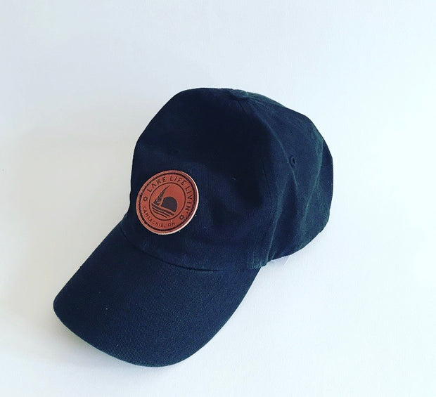 Leather Patch Dad Hat