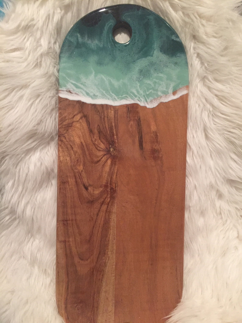 Long Grazing Board with Ocean Style Resin