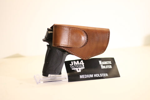 JM4 Tactical Medium Original Magnetic Quick, Click, & Carry Holster Brown