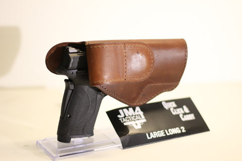 JM4 Tactical Large Long 2 Original Magnetic Quick, Click, & Carry Holster Brown