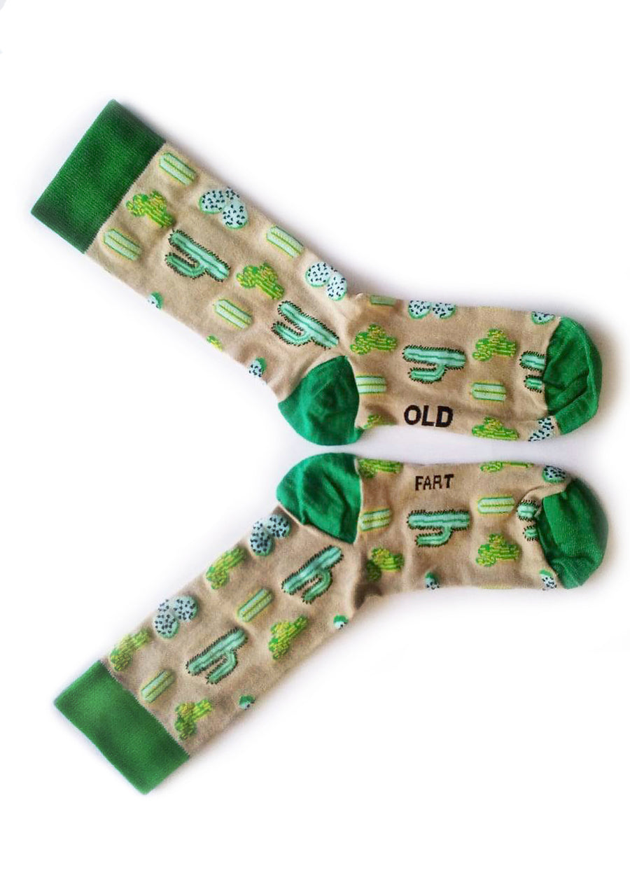 Old School Cactus Socks