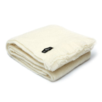 Natural cream mohair blanket