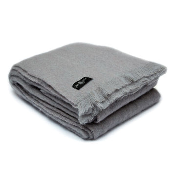 Grey Cape Mist Mohair Blanket