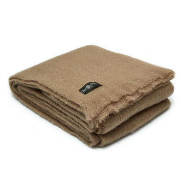 Brown Putty Mohair Blanket