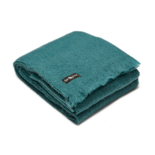 Lagoon mohair blanket by Cape Mohair made in South Africa