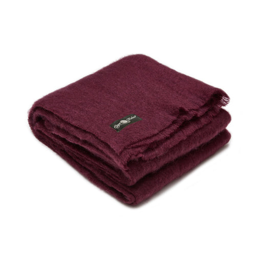 Winterberry mohair blanket by Cape Mohair