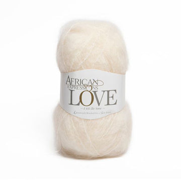 Natural Cream Mohair Yarn