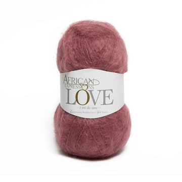 Plum Mohair Yarn