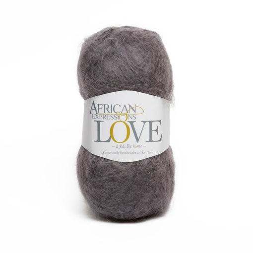 Charcoal Mohair Yarn