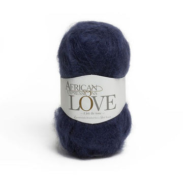 Navy Mohair Yarn