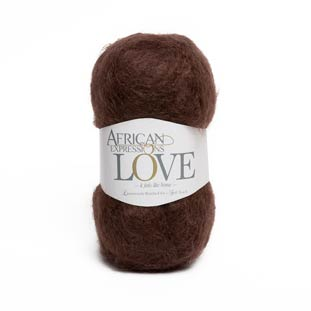 Brown mohair knitting yarn