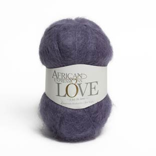 lavender mohair knitting yarn