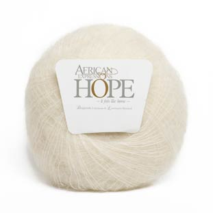 6003 cream kid mohair yarn