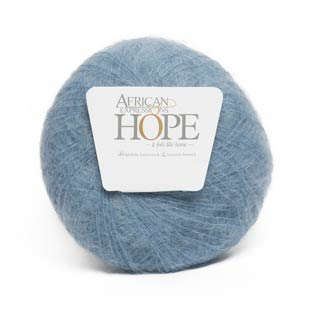denim sky blue kid mohair yarn