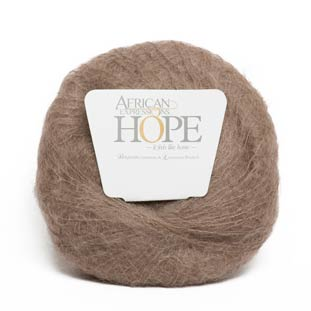 Beige kid mohair knitting yarn made in South Africa