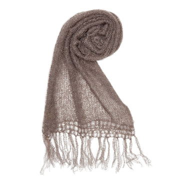 Fawn mohair scarf by Adeles mohair made in SOuth Africe for the Mohair Mill Shop