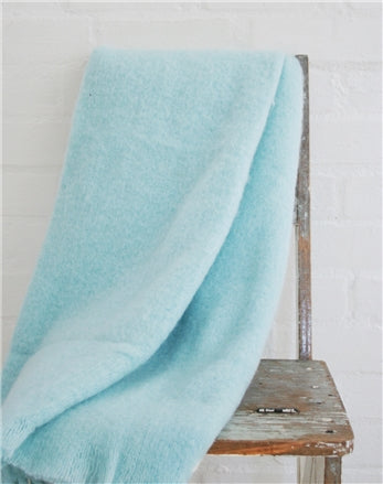 Duck Egg Mohair Blanket